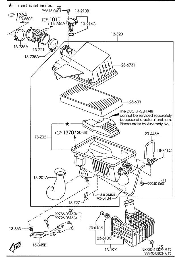 2005 Mazda Mazda 6 Tube  Vacuum