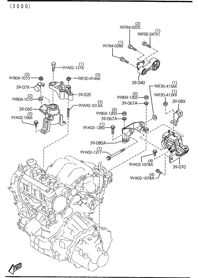 mazda 6 v6 engine diagram car parts and
