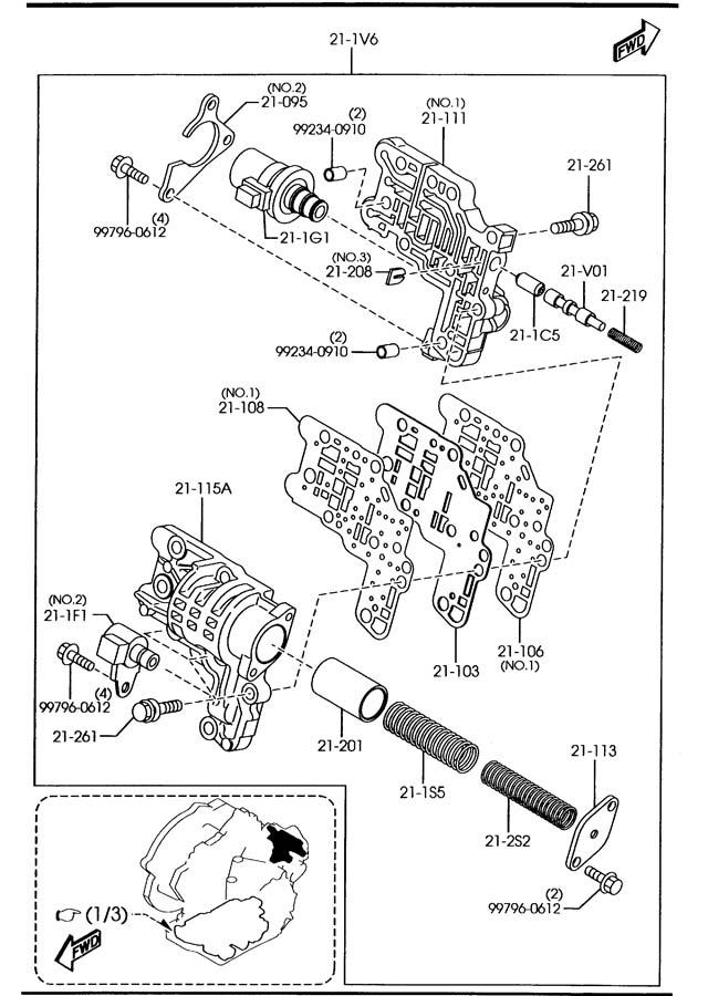 2008 mazda mazda 6 valve  solenoid - shift