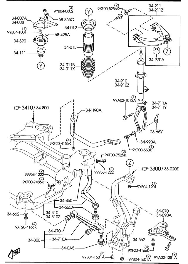 250419 Front Strut Mount Differences on Mazda 6 Engine Parts Diagram