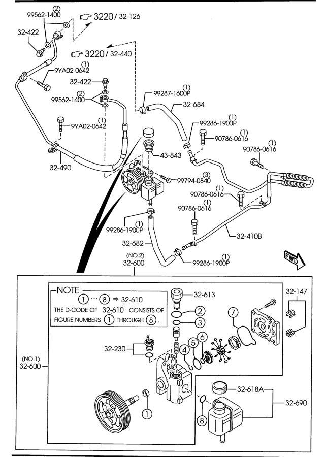 2006 Mazda Mazdaspeed6 Hose  Pressure