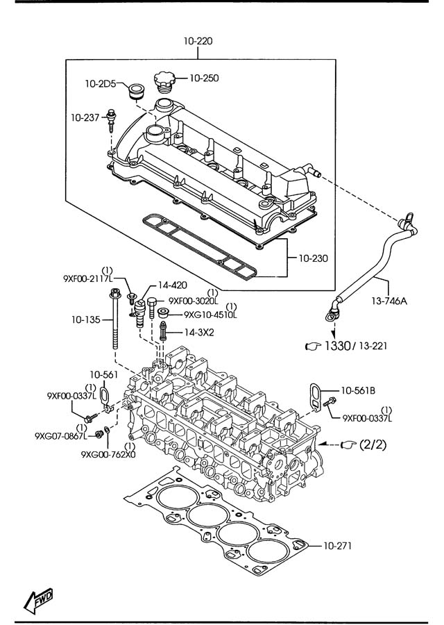 CYLINDER HEAD & COVER Diagram