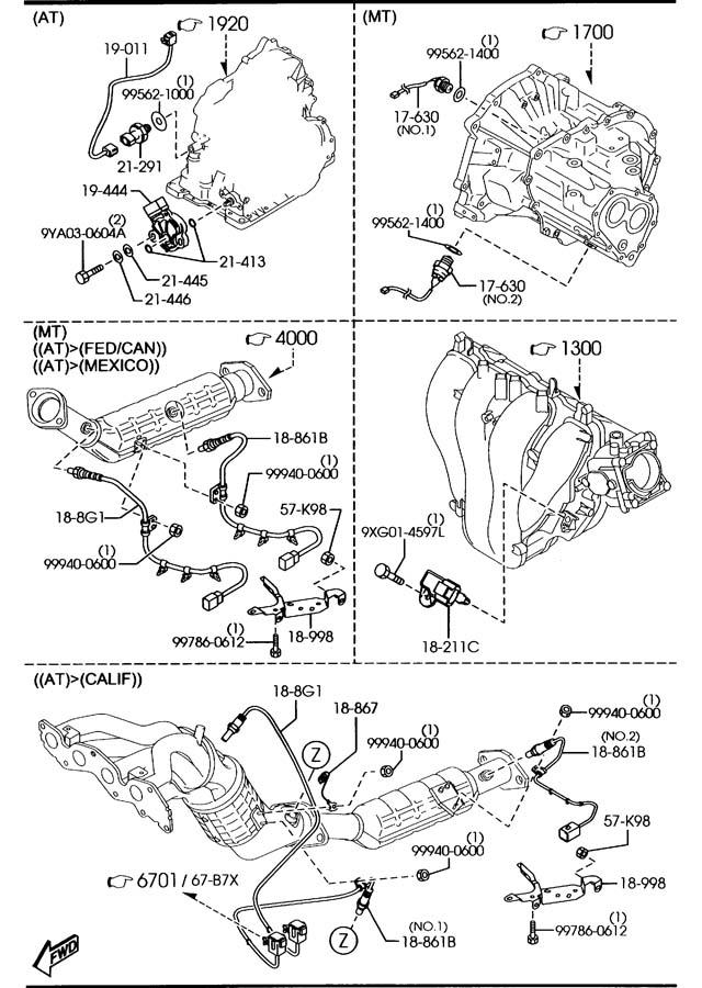 2012 Mazda Mazda 6 Control Unit  Automatic Transmission