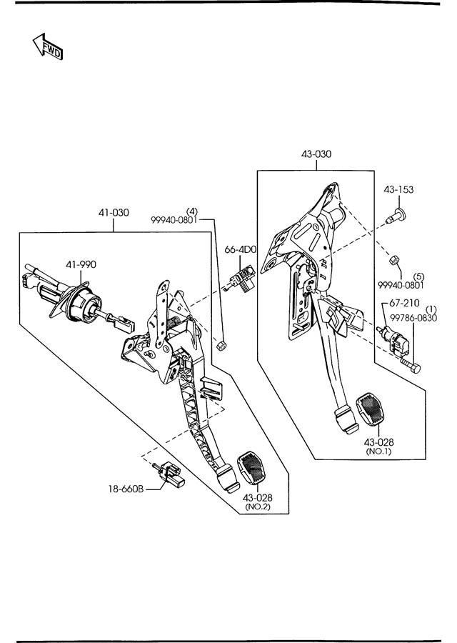 2005 mazda 3 clutch   brake pedals  manual transmission Electrical Manuals SV 185 Case 1969 VW Electrical Manual
