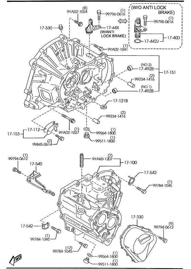 2007 mazda 3 transmission diagram