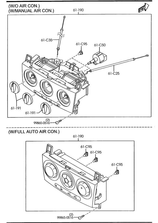 Bp4k61c50 - Mazda Switch  Fan