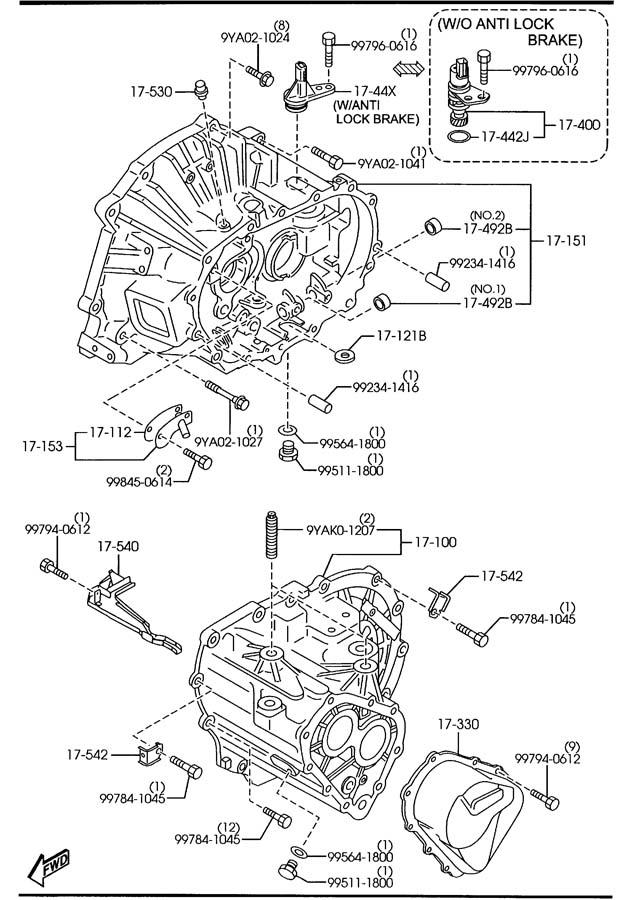 2007 mazda 3 manual transmission case 5 speed. Black Bedroom Furniture Sets. Home Design Ideas