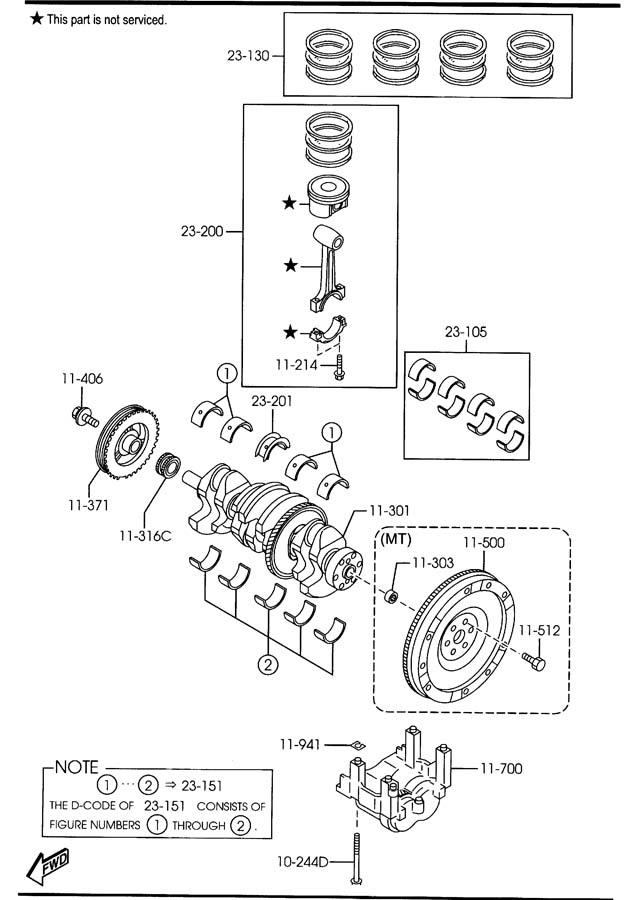 ShowAssembly on Mazda Miata Crankshaft