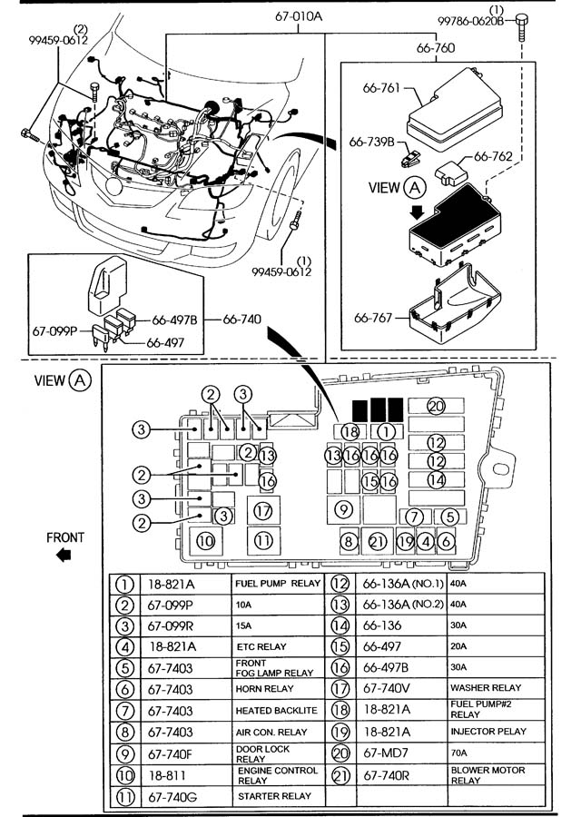 mazda front rear wiring harnesses 5 door w turbo