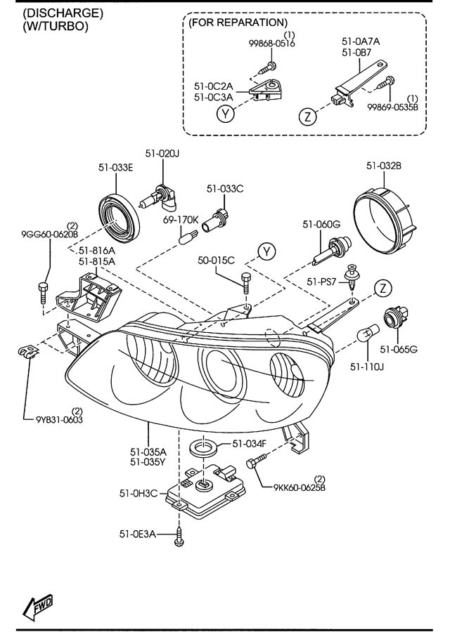 2006 Mazda 3 Headlight Wiring Diagram from www.jimellismazdaparts.com
