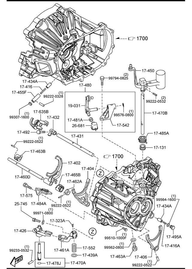 mazda 5 speed manual transmission diagram