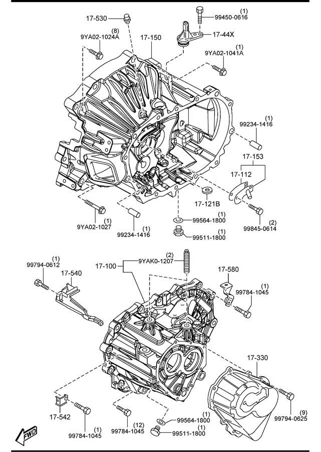 Mazda 5 Manual Transmission Case