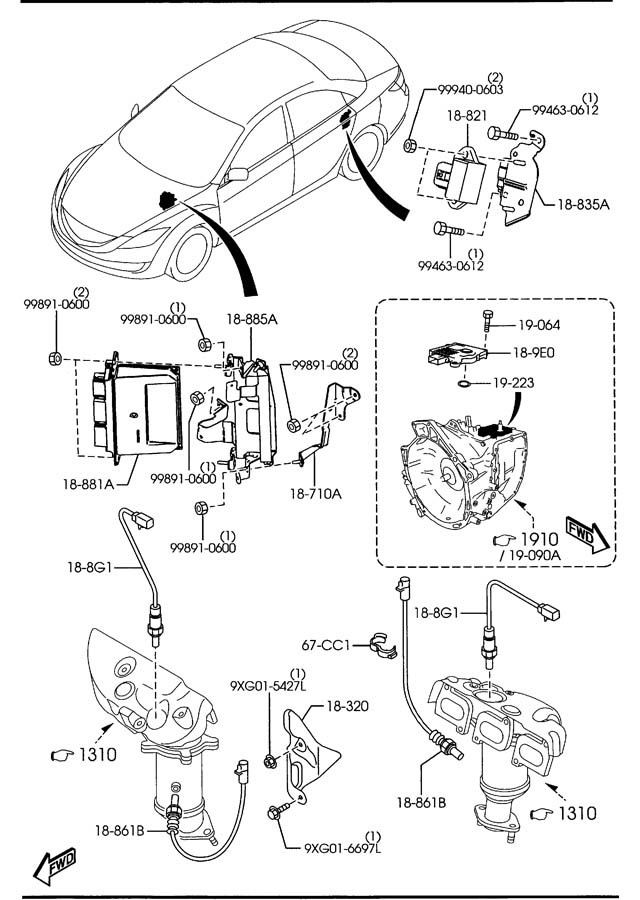 Mazda Mazda 6 Module  Powertrain Control