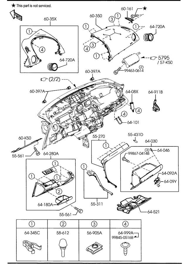 Mazda Mazda 6 Bulb  Glovebox  Airbag  Gloveboxairbag