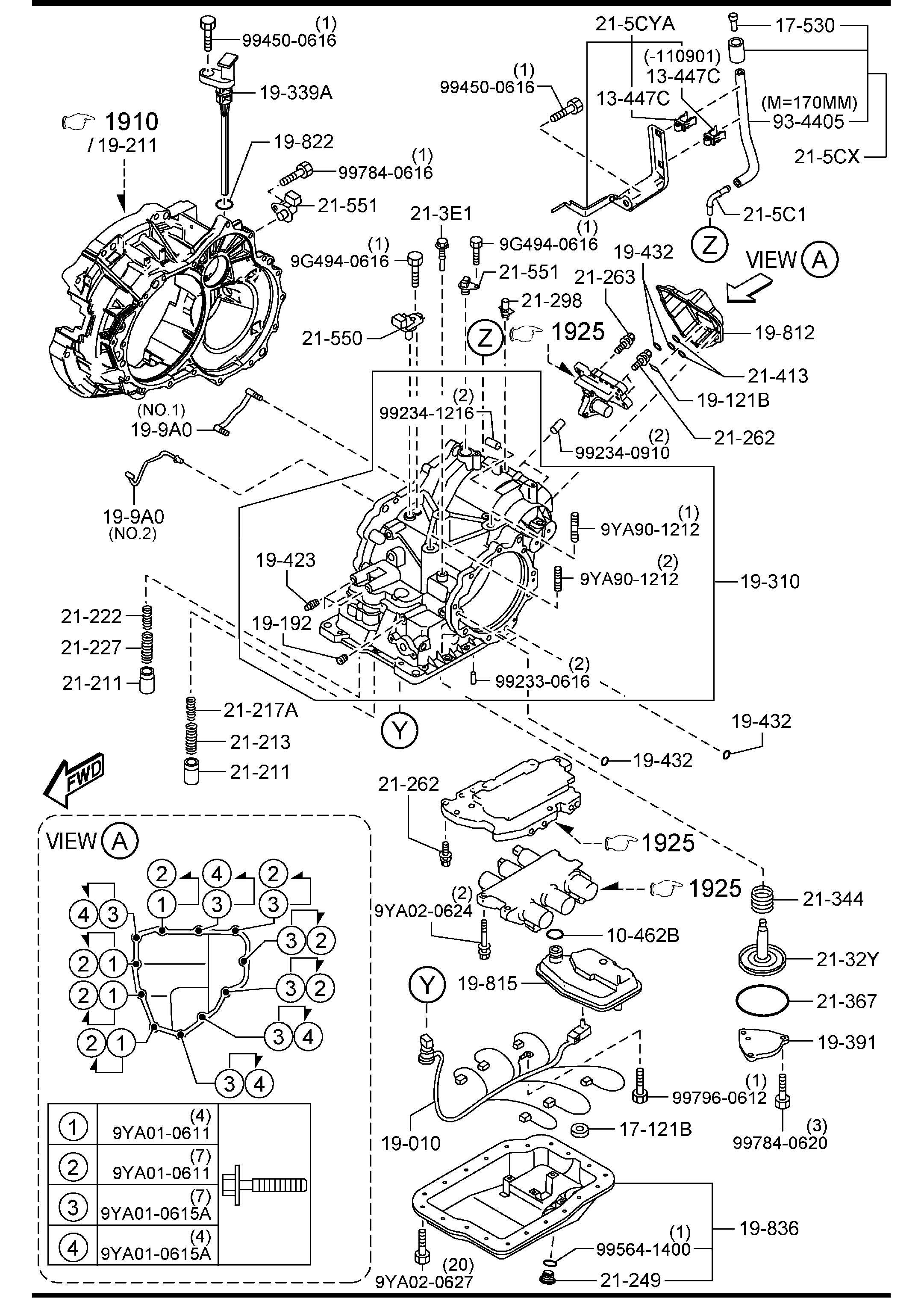 mazda automatic transmission case  u0026 main control system  5