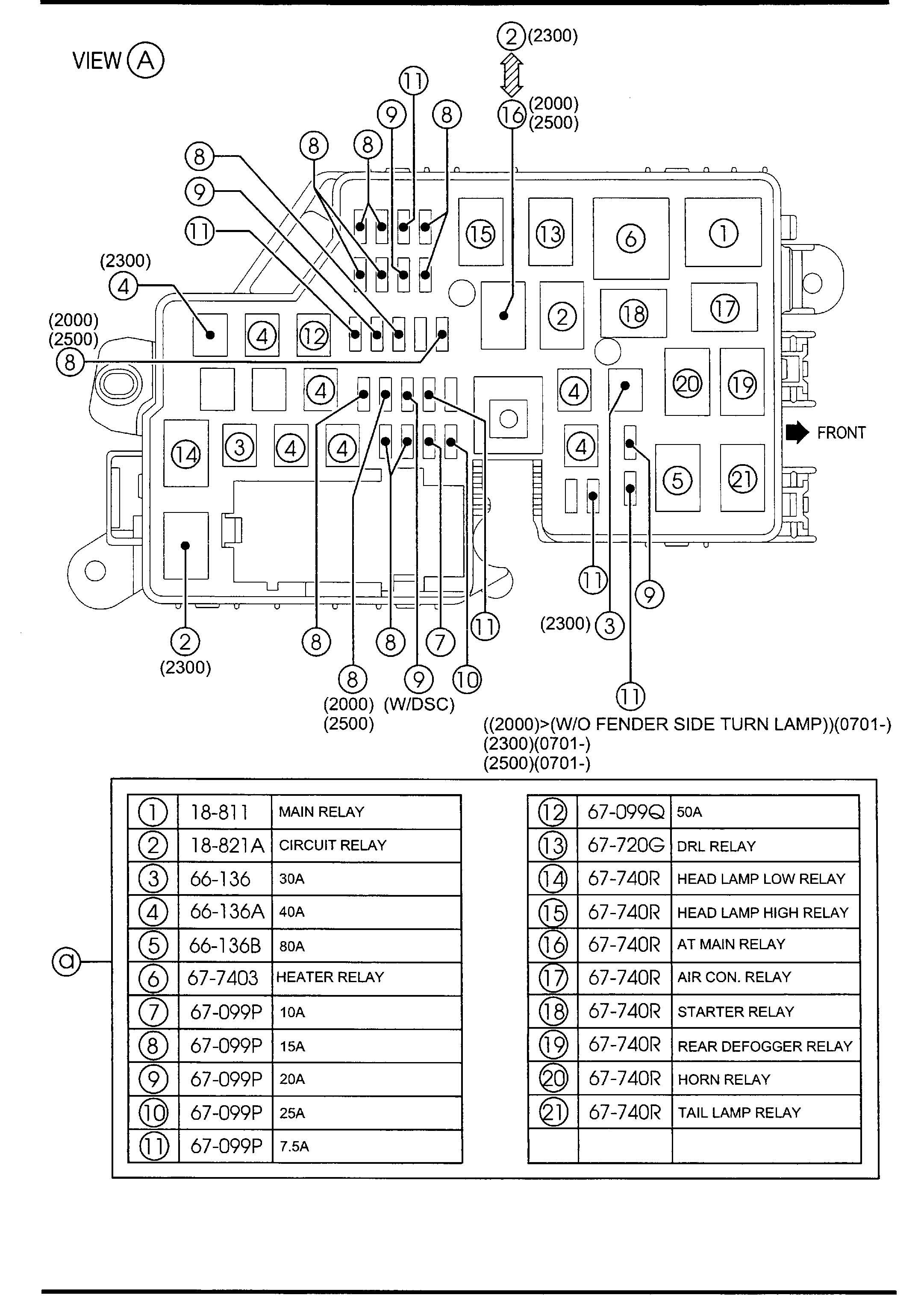 mazda front rear wiring harnesses 5 door