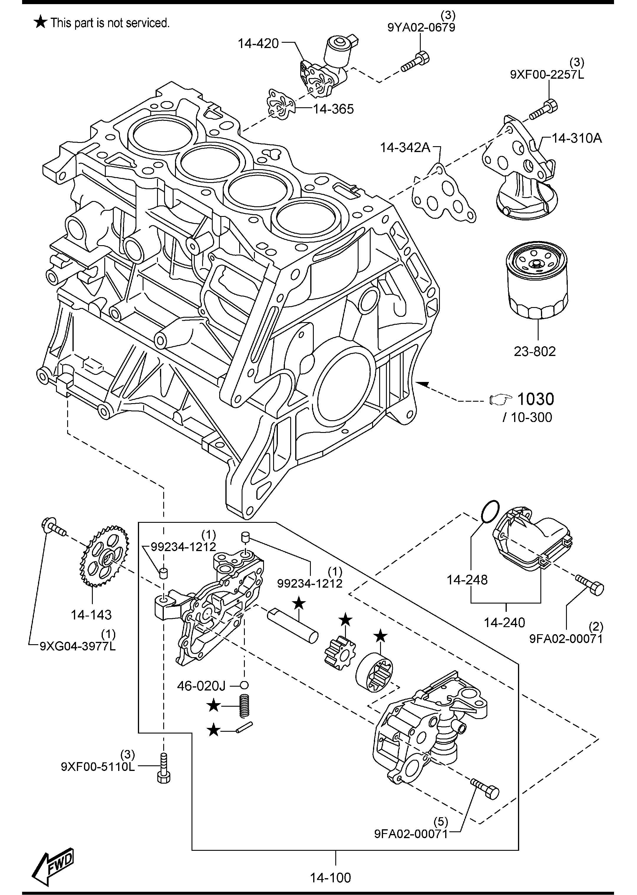 mazda oil pump  u0026 filter  2000cc  6