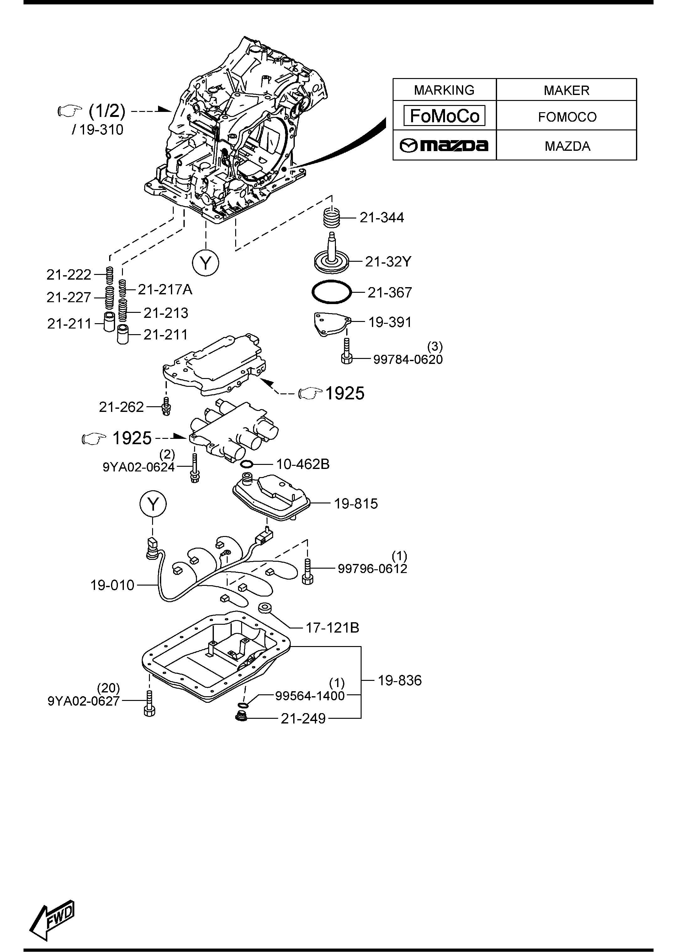 2013 Mazda Mazda 3 Automatic Transmission Fluid Temperature Sensor  1 6 Liter  Auto Trans  1