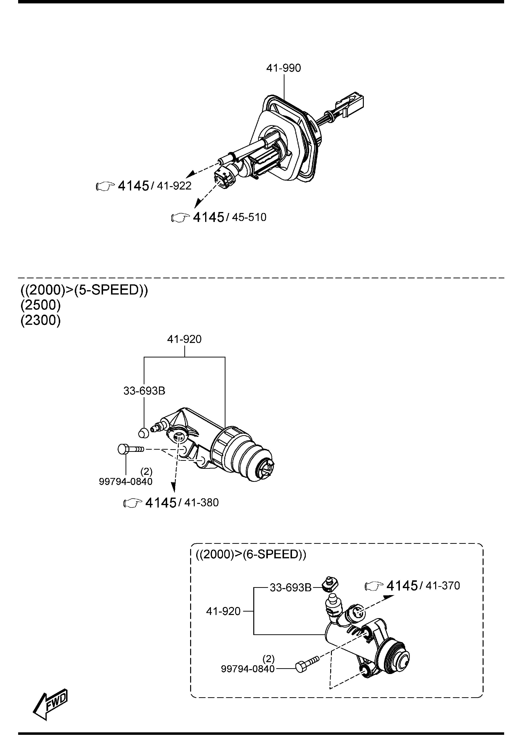 Diagram CLUTCH RELEASE & MASTER CYLINDERS (MANUAL TRANSMISSION) for your Mazda Mazda 3