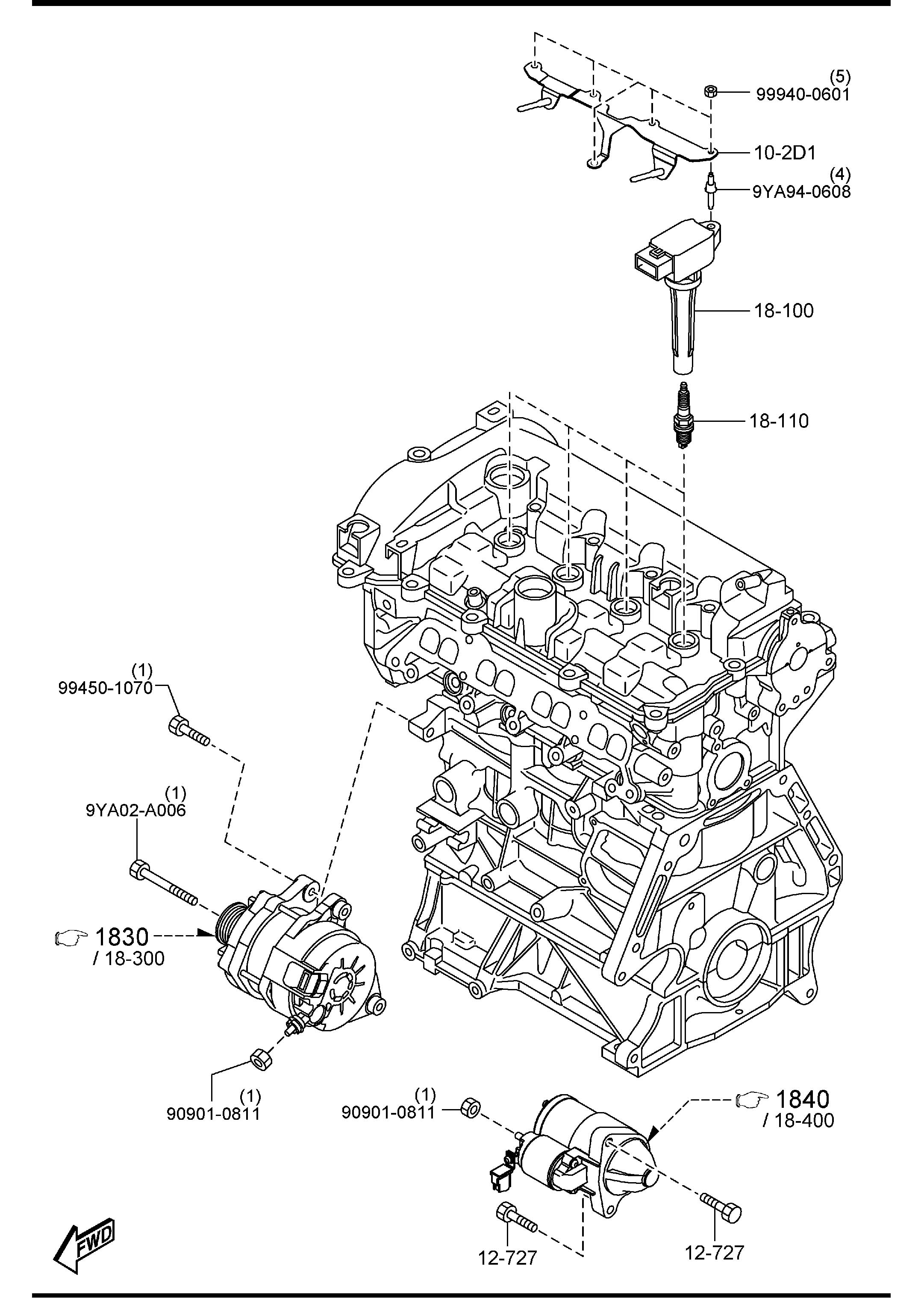 Engine Electrical System : Mazda engine electrical system cc speed