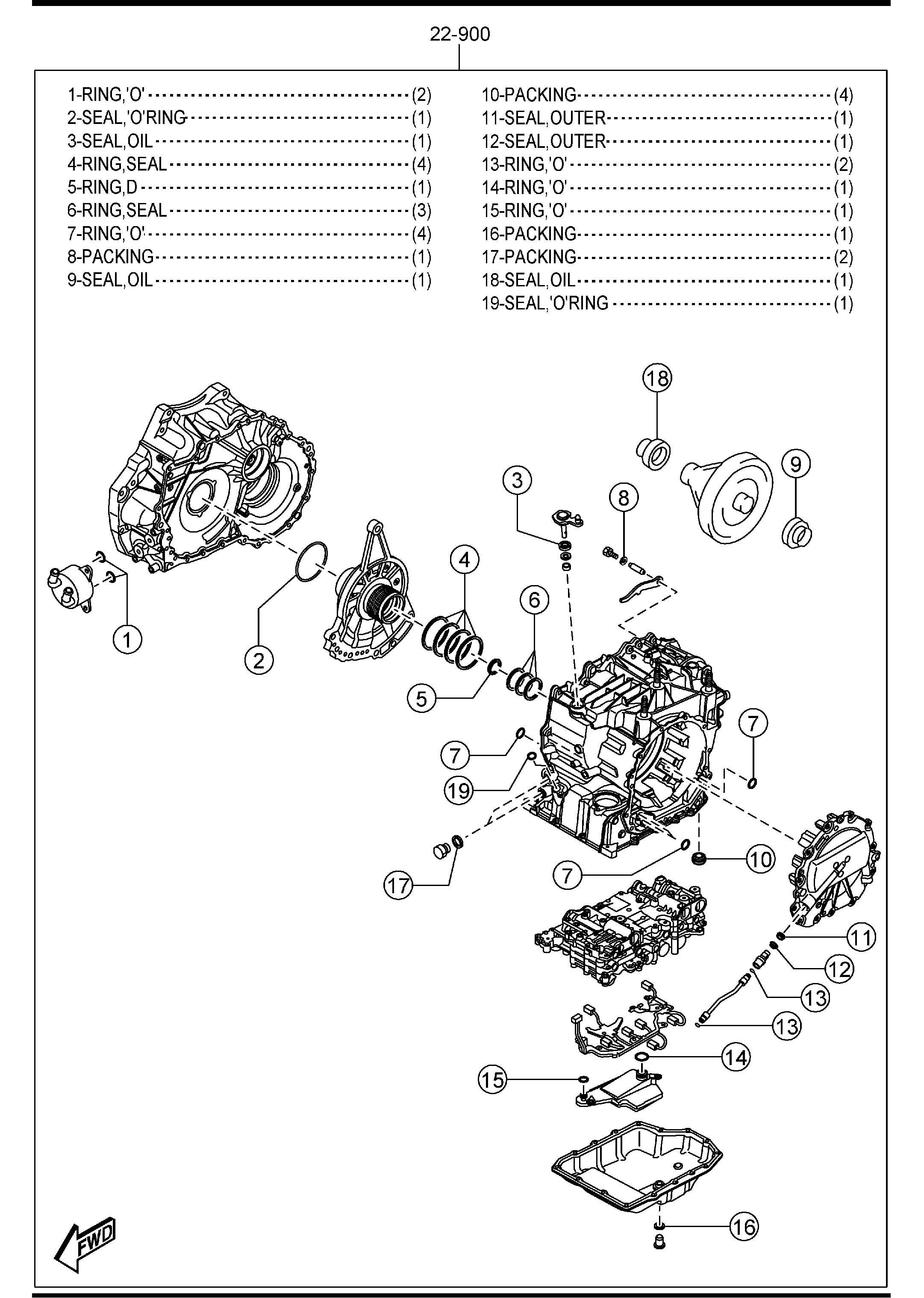 mazda cx 9 transmission parts