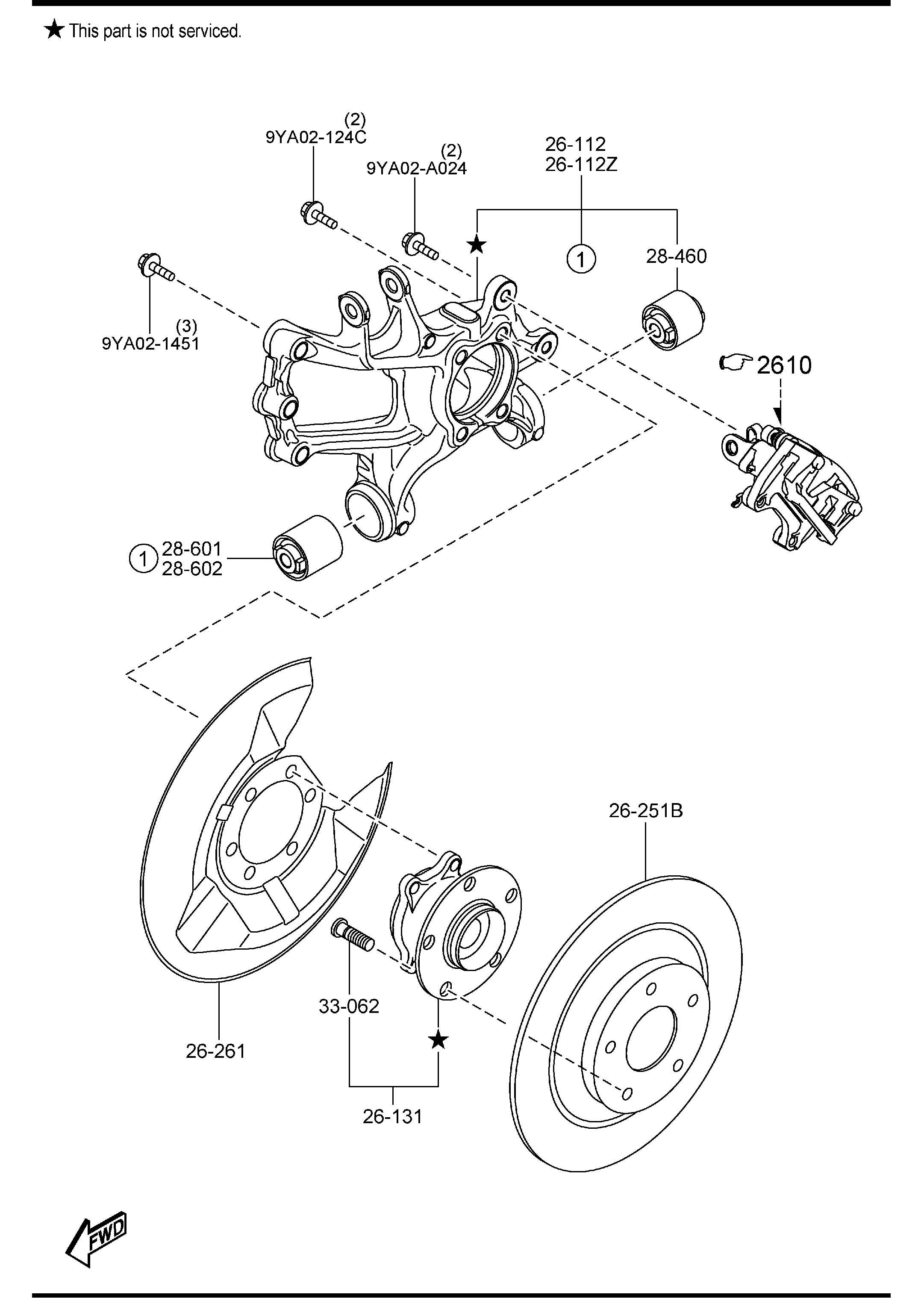 Mazda Mazda 6 Bearing  U0026 Hub  Fwd