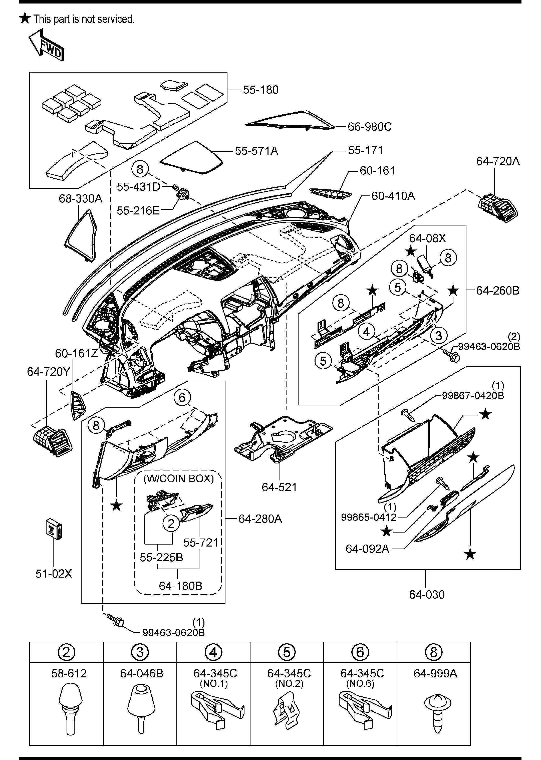 Diy Changing The Glove Box Light 3rd Gen Mazda 6 Forums Fuse Diagram 2004 6s Report This Image