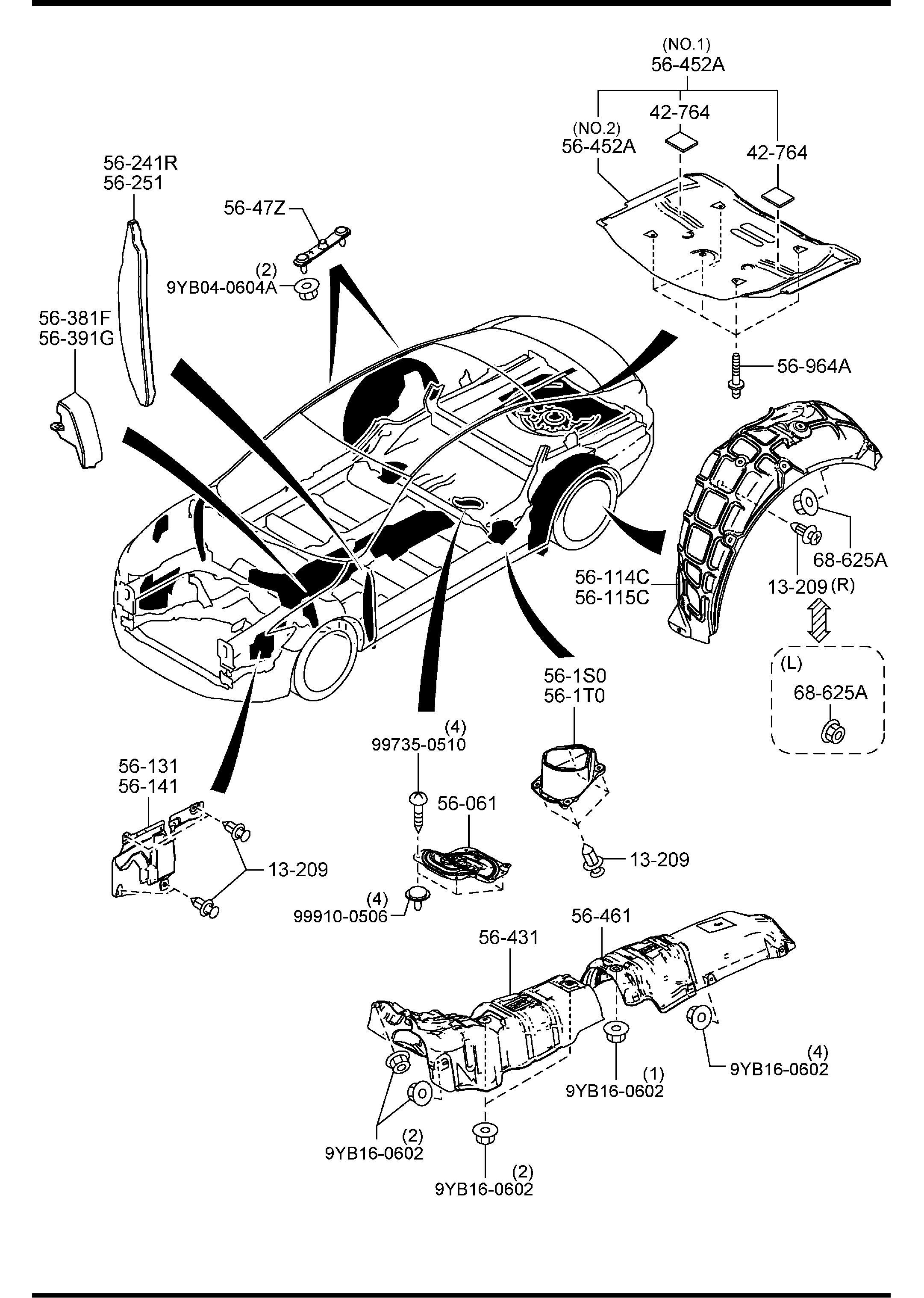 2014 Mazda Mazda 6 Fastener. Led, closure, impact ...