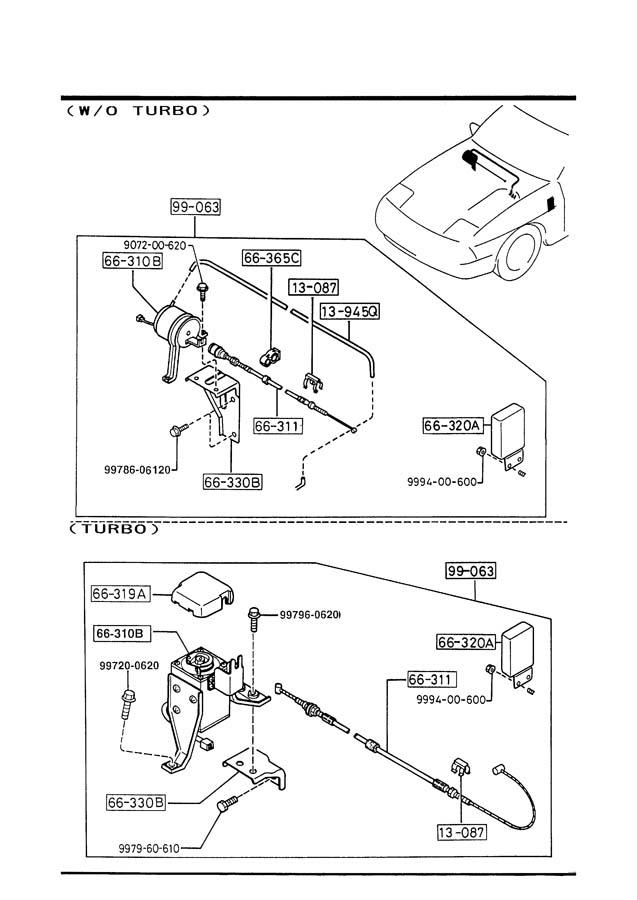 Mazda rx auto cruise control system