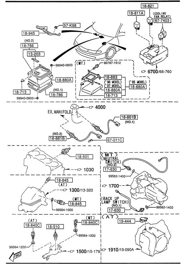 1995 mazda 626 sensor temp enginecoolant fs1518840 jim ellis mazda parts. Black Bedroom Furniture Sets. Home Design Ideas