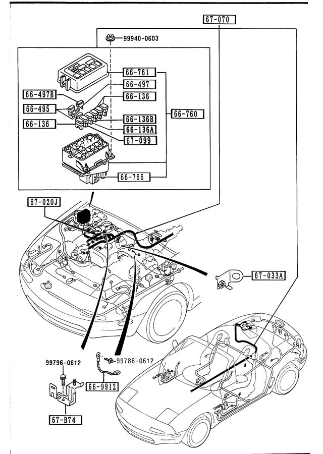Mazda Miata Fuse  80a  Black    Harnessesengine
