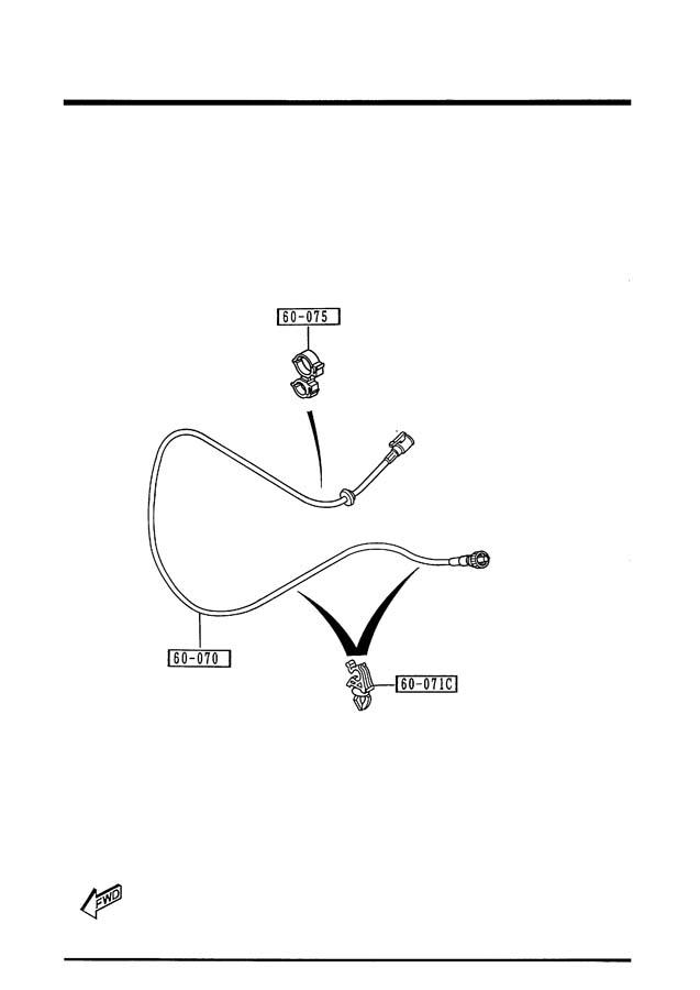 1995 Mazda Miata Speedo Cable  Speedometer