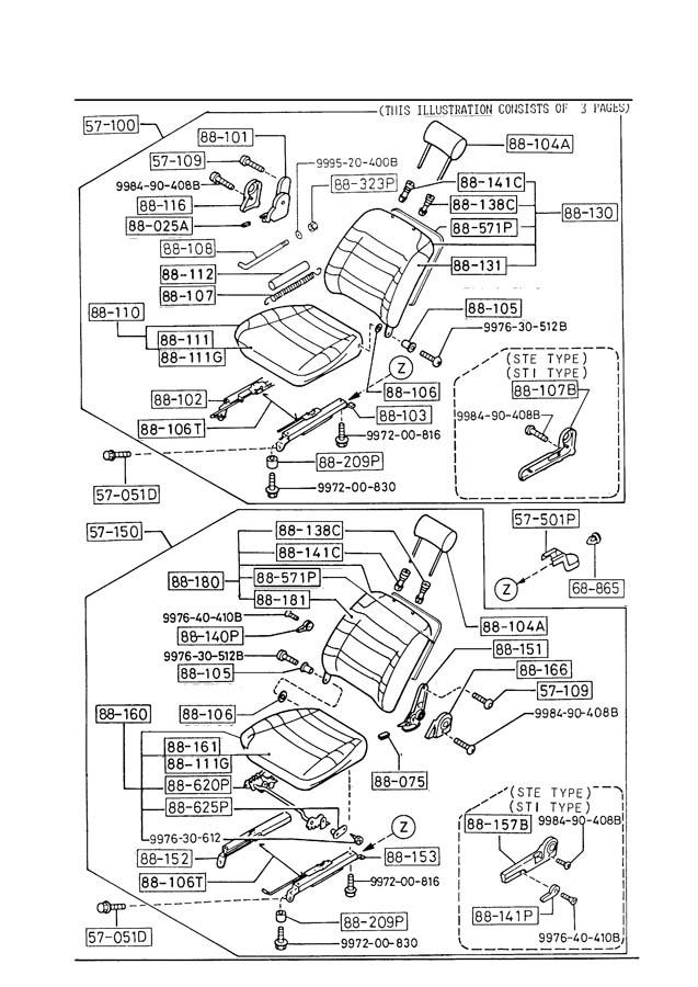 mazda b2000 door diagram html