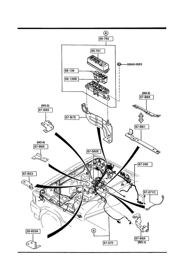 1993 mazda b2200 wiring harnesses engine t mission