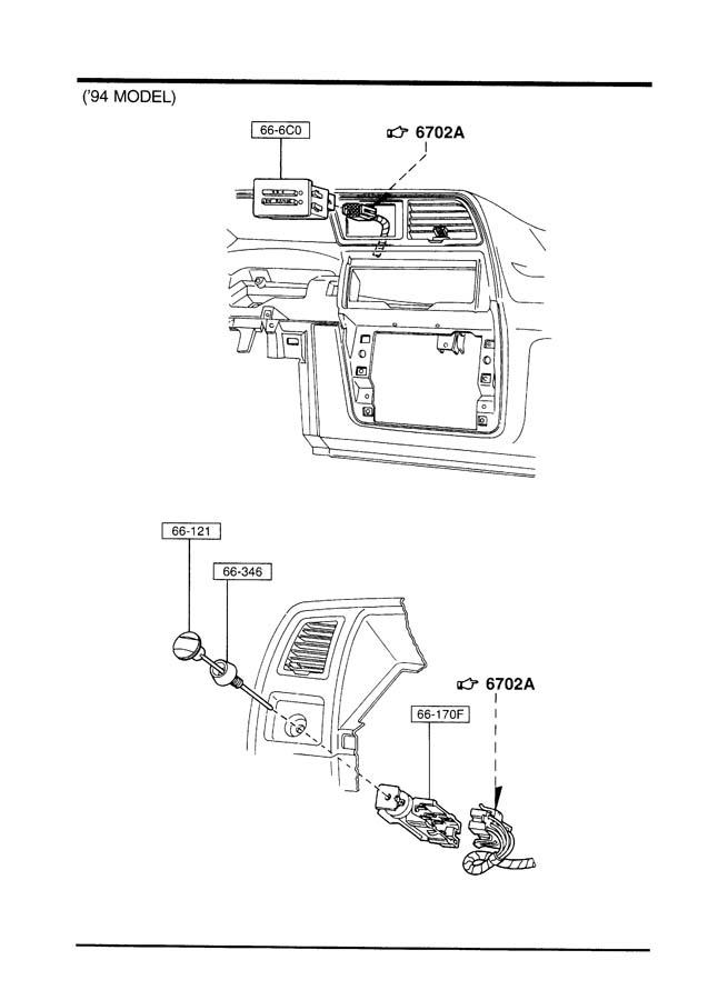 1994 Mazda B4000 Switch. Electric, doorfloor - ZZL0666C0 ...