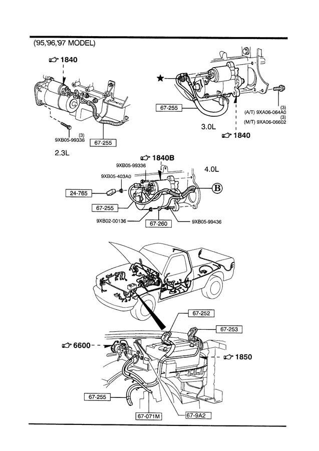 Mazda B-series Diode  Fuse Block