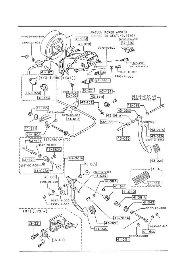 Mazda 626 Switch  Starter Interlock