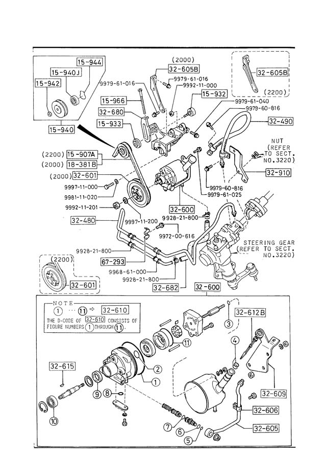 1987 Mazda B2200 Hose, return - UB4032682 | Jim Ellis ...