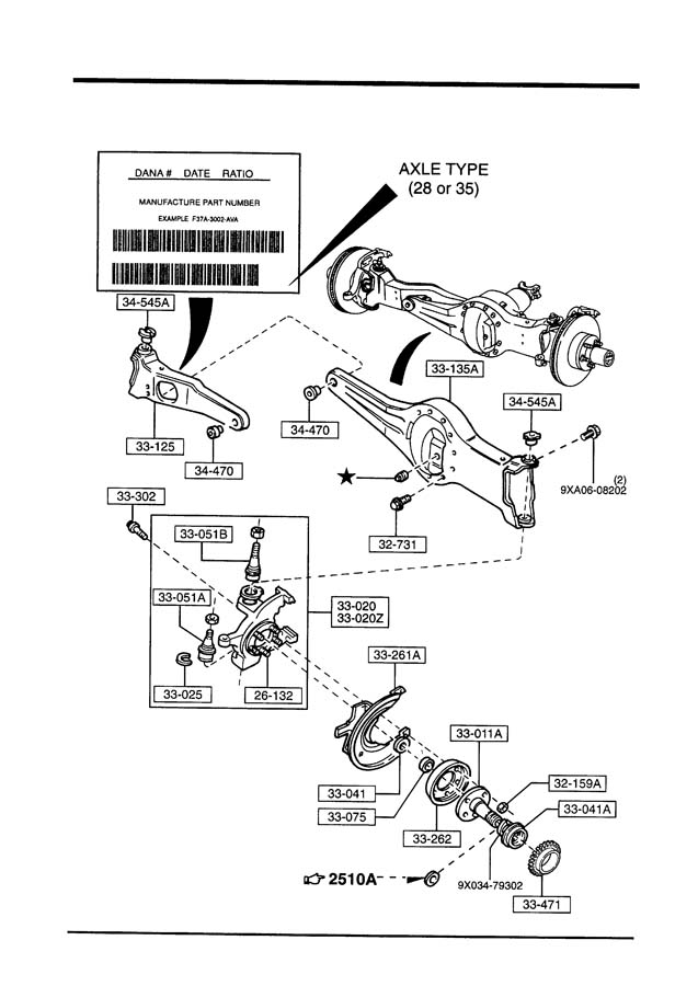 Mazda B4000 Hub Manual Locking