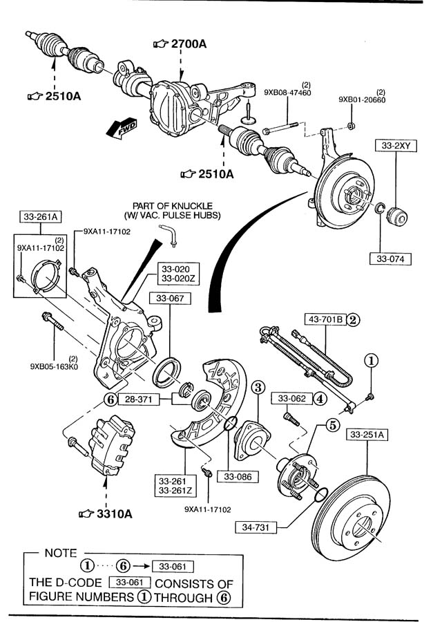 1999 Mazda B4000 Hub Kit  Auto Locking