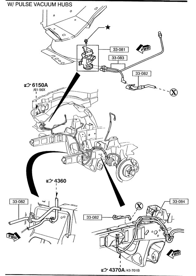 1999 Mazda B4000 Hub Kit  Auto Locking