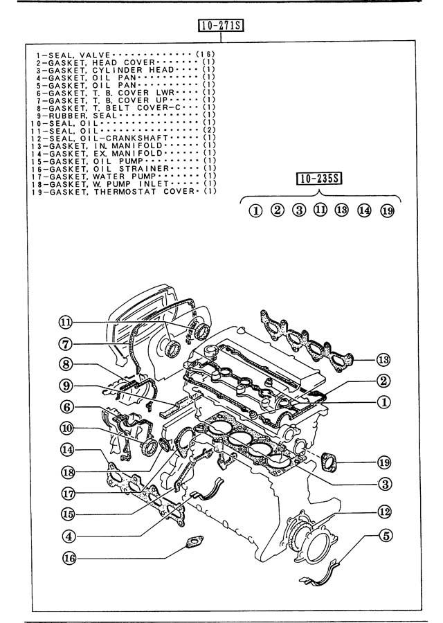 1992 Mazda Protege Gasket Set  Engine  Gaskets