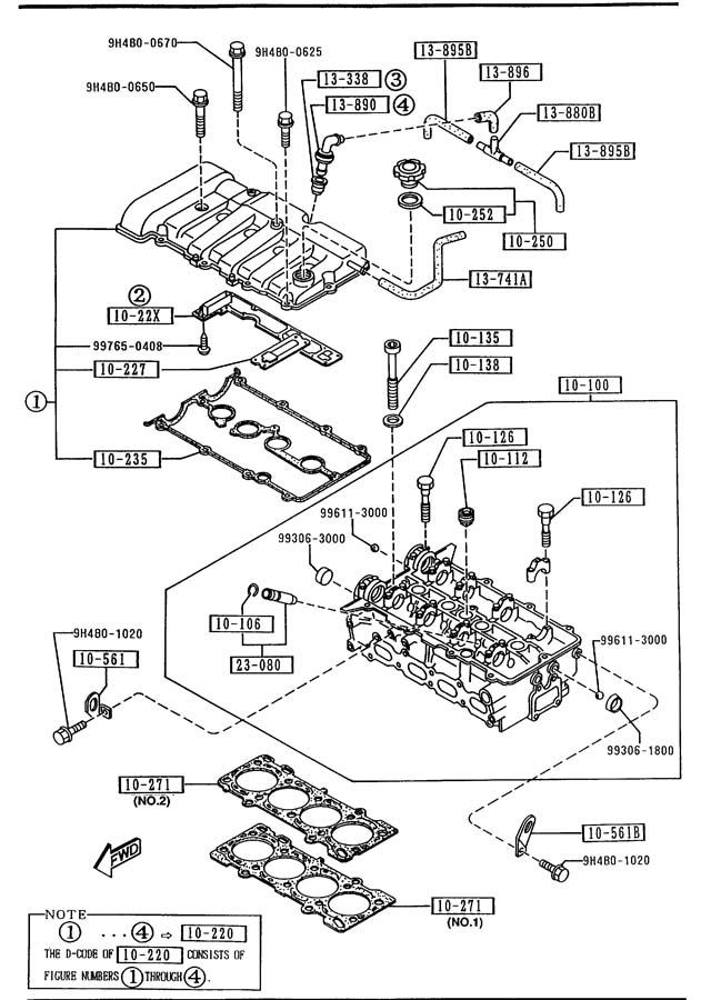 Mazda 626 Valve, pcv - B54113890A   Jim Ellis Mazda Parts ...