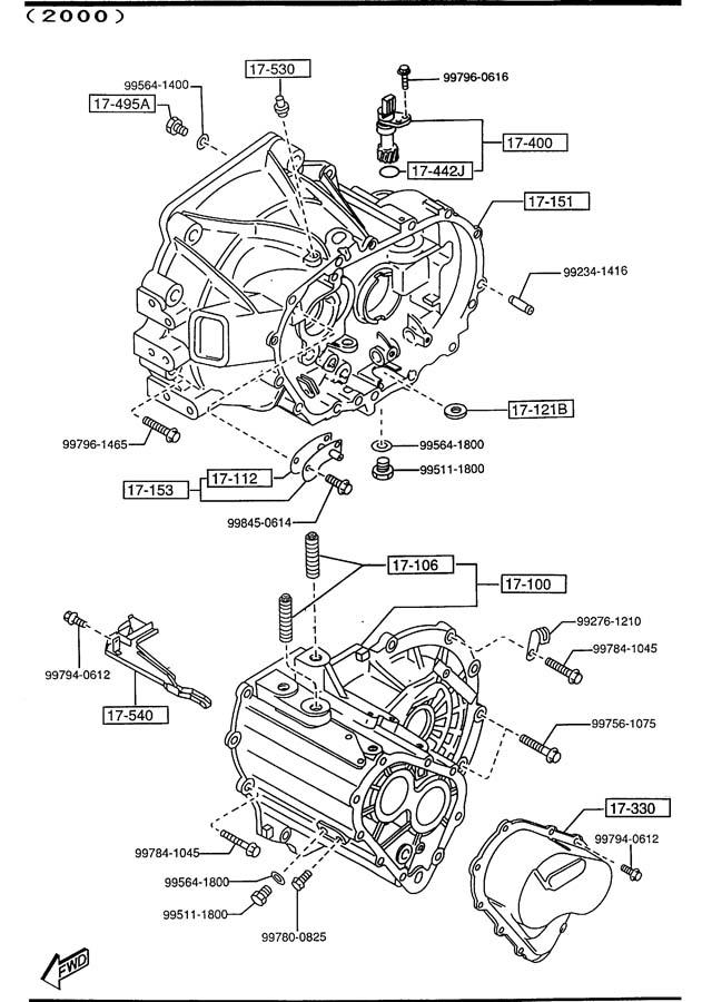 2001 Mazda 626 Manual Transmission Diagram