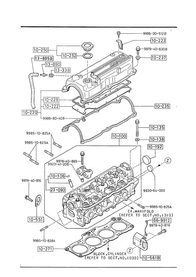 mazda b2200 cylinder head mazda bl sohc 8v cylinder head