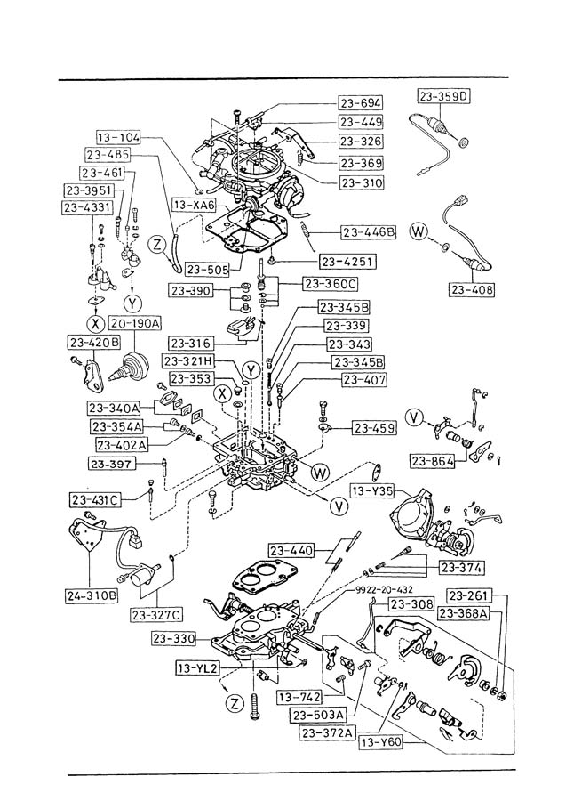 mazda b2200 carburetor diagram list  mazda  free engine