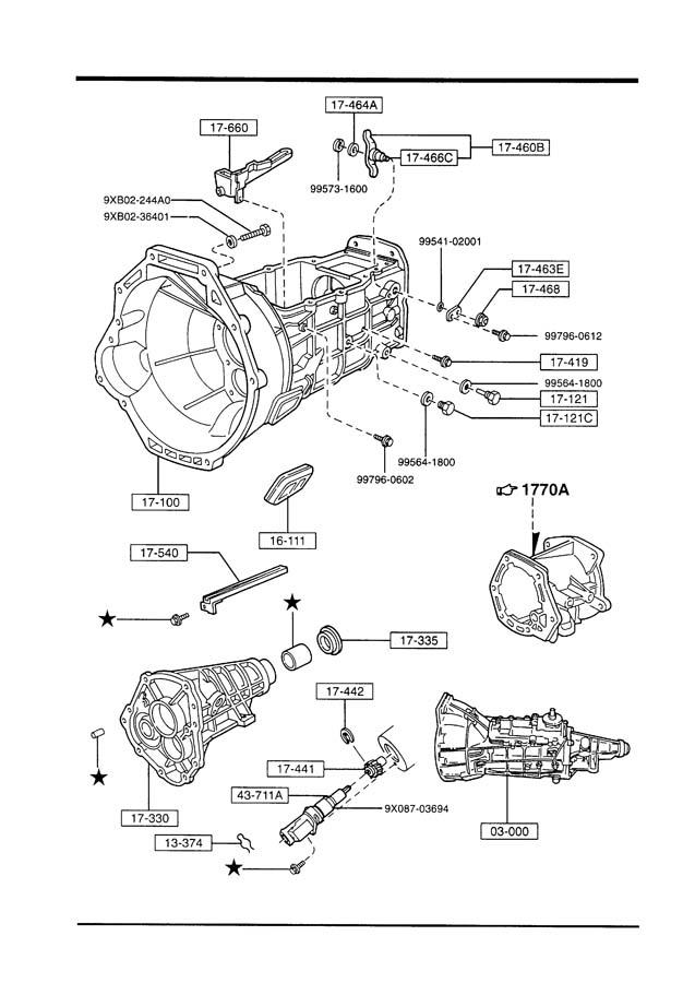 service manual  1990 mazda b series transfer case repair