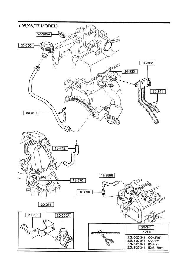 1994 Mazda B4000 Egr Tube  Begr