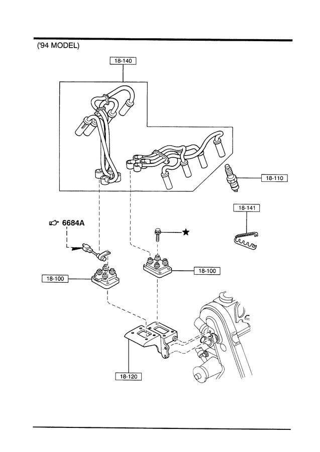 1995 Mazda B-series Plug  Spark