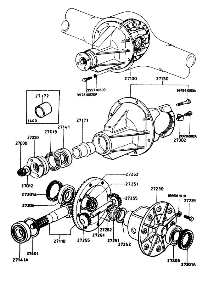 Diagram DIFFERENTIAL (HATCH BACK) for your Mazda Miata